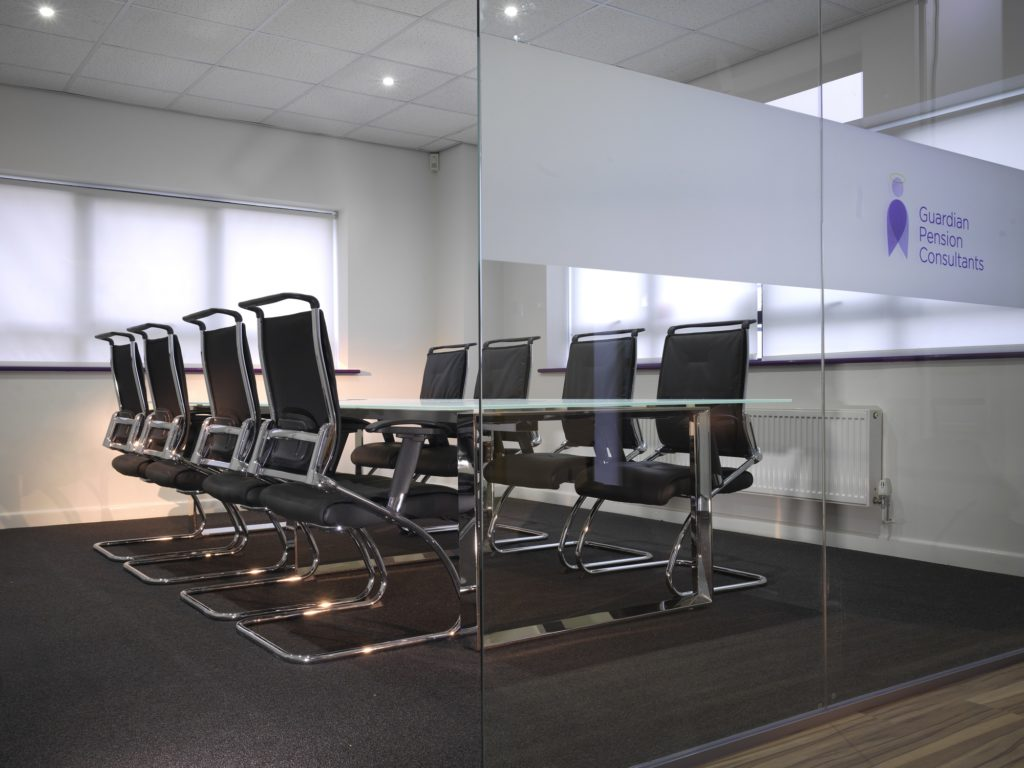Different types of glass partitions - manifestation graphics