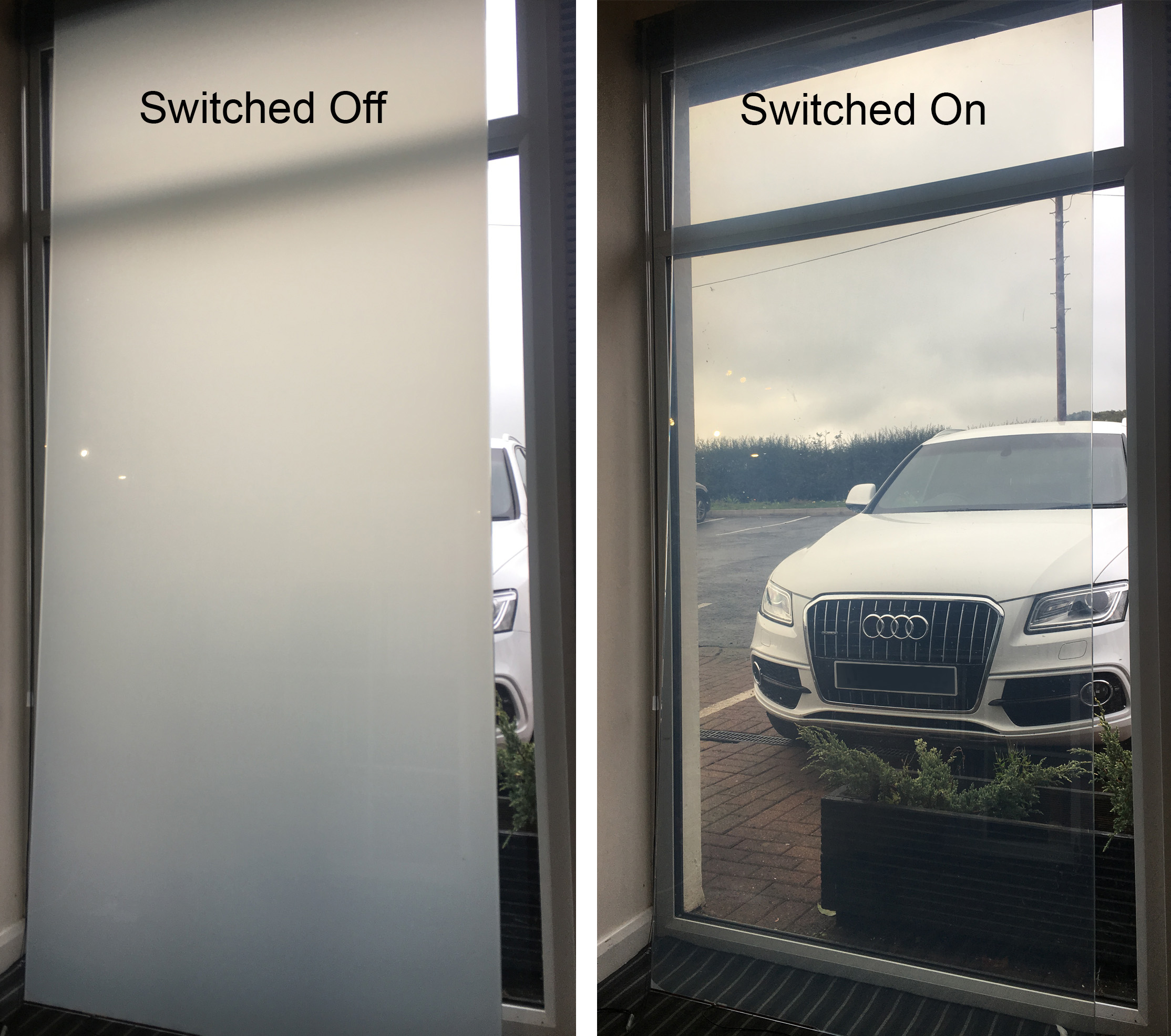 Switchable smart glass and film