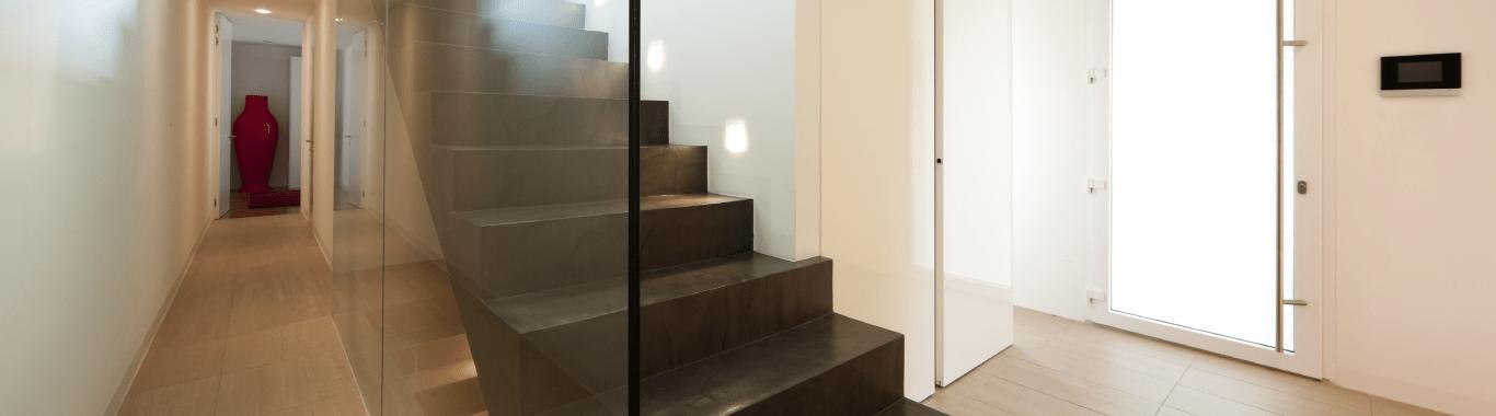 Apartment Interior glass partitions