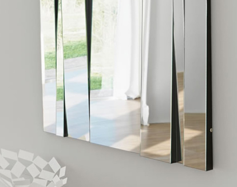 Tall glass mirror