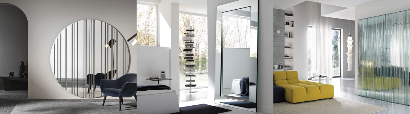 Stylish glass mirrors