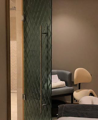 Diamond Glass Door