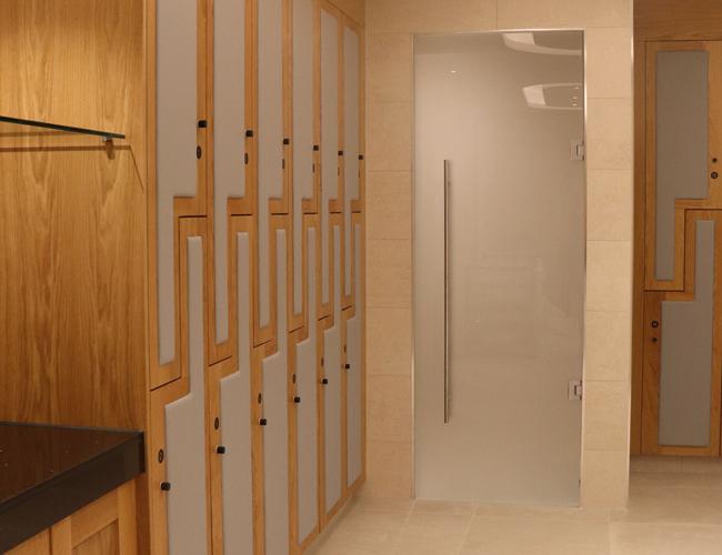 Spa shower room door